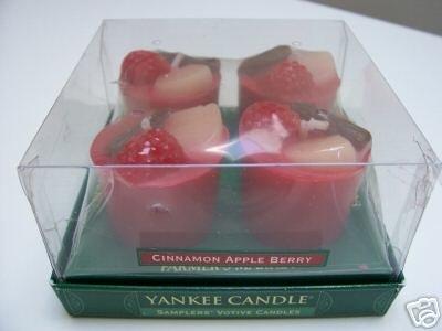 Yankee Candle Cinnamon Apple Berry 4 Sampler Votives
