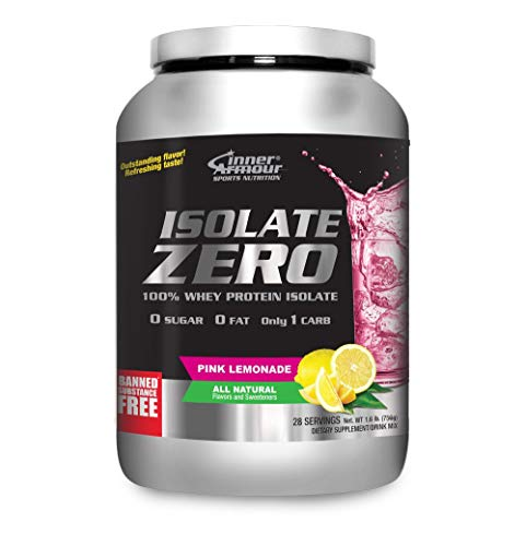 Inner Armour Isolate Zero All Natural Pink Lemonade Flavor | 100% Whey Protein Isolate | Organic Protein Powder | Pre Workout Powder for Men & Women |