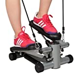 Aerobic Step Fitness Air Stair Climber Stepper Exercise Machine Equipment Silver