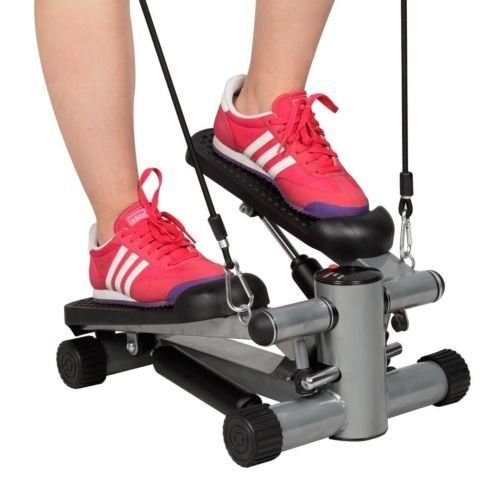 Aerobic Step Fitness Air Stair Climber Stepper Exercise Machine Equipment Silver by Unknown