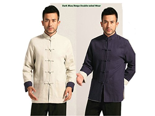Cotton-flax Tang Suits Double-sided Wear Mens shirts Business Jackets by Double-sided Wear Tang Suit