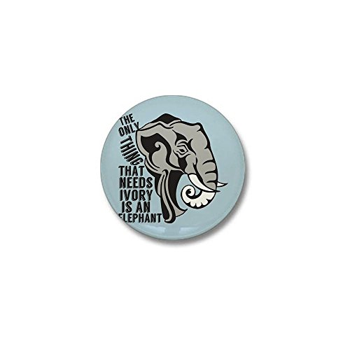 CafePress - Save Elephants Mini Button - 1