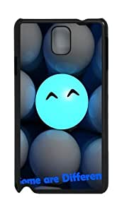 3D Ball Smiling Faces Some Are Different PC Case and Cover for Samsung Galaxy Note 3 Note III N9000 Black
