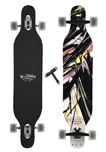 WiiSHAM 42 Inchs Professional Speed Downhill Drop Down Complete Longboard Skateboard