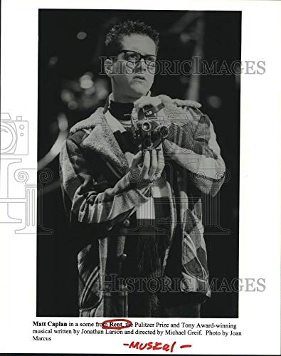 Vintage Photos 2000 Press Photo Matt Caplan in a Scene from The Musical Rent - hca50180 (Musical Rent The Wall Picture)