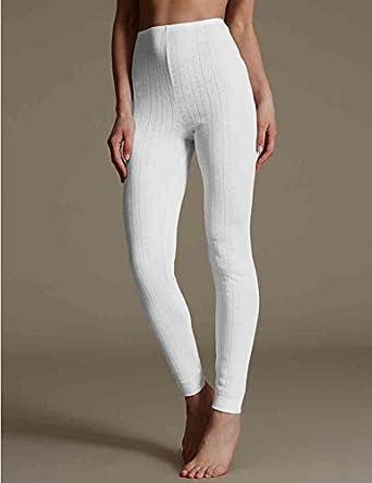 Black or Grey Camel Ivory Sizes 6 to 28 Ladies Famous Make Brushed Thermal Leggings//Long Johns//Long Janes