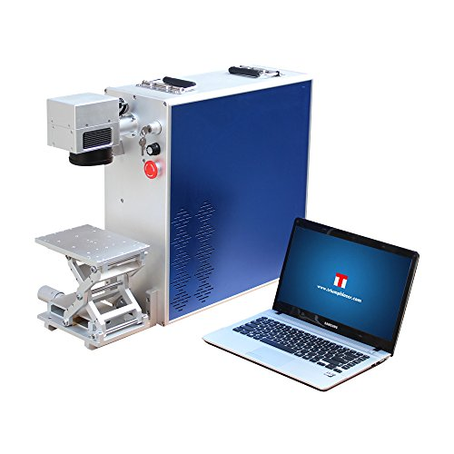 20W Portable Desktop Fiber Laser Engraver Marking Engraving Etching Machine Maker Metal & Non-Metal