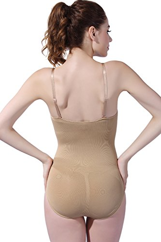 Franato - Body - Sin mangas - para mujer color carne