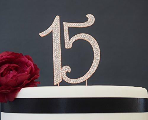 Quinceanera Cake Stands 15 Rose Gold Quinceanera Cake