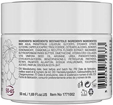 RevitaLAB - Crema hidratante antiarrugas de día y de noche con colágeno enriquecida con ácido hialurónico, L-arginina, retinol y un filtro UVA/UVB, franja de edad 50-65, 50 ml