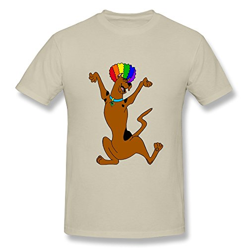 Design O Neck Swag Scooby Doo Circus Afro Men's Tee Shirt Size XS Natural