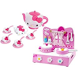 Hello Kitty Table Top Kitchen Play Set and Hello Kitty Hello Kitty Tea Time Set, Bundle