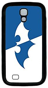 Samsung Galaxy S4 Case, S4 Case - Ultimate Protection Soft Interior Case Bumper for Samsung Galaxy S4 I9500 with Batman Logo In White And Blue Thin Fit Black Rubber Case for Samsung Galaxy S4 I9500