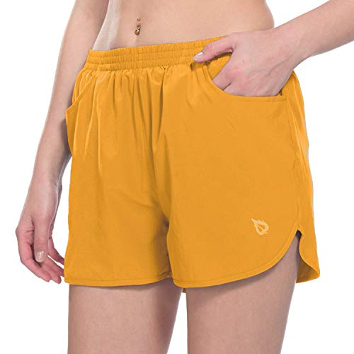 "BALEAF Women's 3"" Running Shorts Gym Athletic Shorts Pockets"