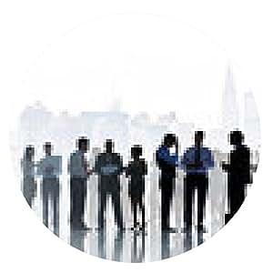 alfombrilla de ratón Los hombres de negocios de la comunicación Concepto Equipo Corporativo - ronda - 20cm