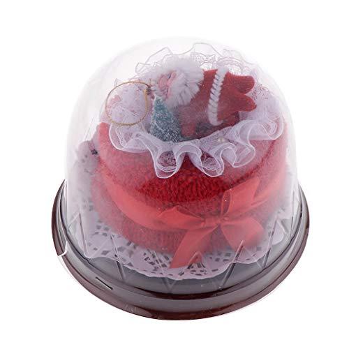 SM SunniMix Mini Santa Cake Towel Washcloth Gift Bridal Baby Shower Wedding Party Favor