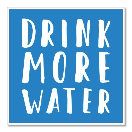 Drink More Water Be Healthy Vinyl Sticker - Car Phone Helmet - SELECT SIZE (Best Drink For Exercise)