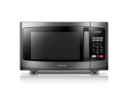 Toshiba EM131A5C-BS Microwave Oven, 1.1 Cu.ft, Black Stainless Steel