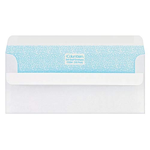 (Columbian #10 Self-Seal Security Tinted Envelopes,  4-1/8 x 9-1/2 Inch, White, 100 Per Box)