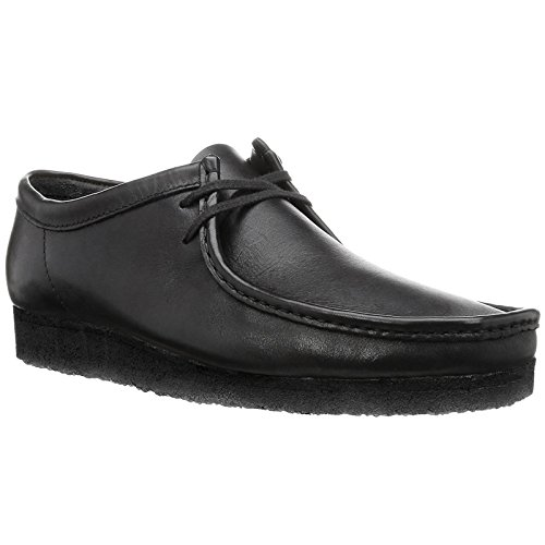 Clarks Originals Wallabee, Scarpe Stringate Derby Uomo Nero (Black Leather -)