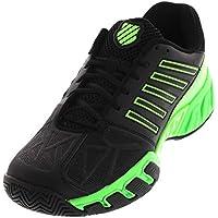 K-Swiss-Men`s Bigshot Light 3 Tennis Shoes Black and Neon Lime-()