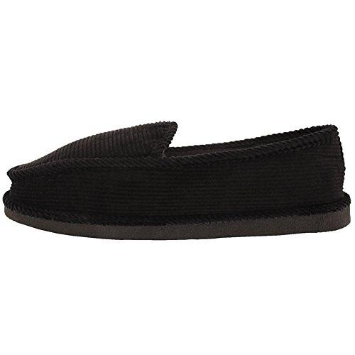 Black Men's Corduroy Bright Slippers House TF41Ew1q