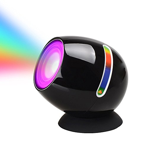Ivbuy Night Light Kids Lamp Touch Sensor Living 256 Color Changing Mood Light Atmosphere Lamp Projection Night Lighting for Bar Party Holiday Kids Children Room Decoration Baby Bursery Light (Black) ()