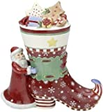 VILLEROY & BOCH Winter Bakery Decoration Cookie Jar - Santa with Boot