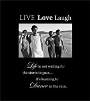 Infusion Gifts 3008-LB Live Love Laugh Engraved Photo Frames, Large, Black