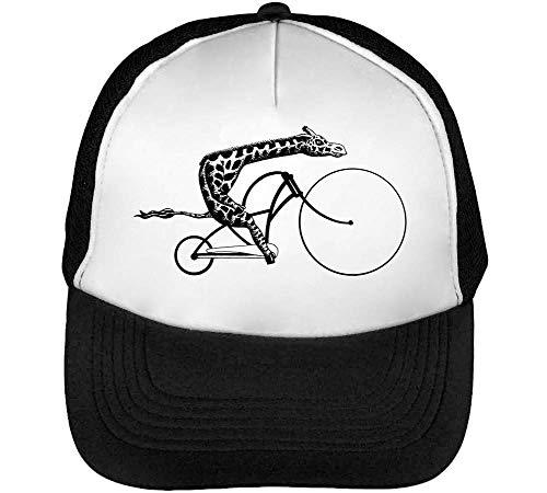 Blanco Bike Gorras A Riding Snapback Negro Beisbol Giraffe Hombre v18aw6