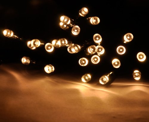 Amazon Com Lychee Solar Christmas String Solar Fairy String Lights For Outdoor Room Garden Home Christmas Party Decoration Waterproof Warm White