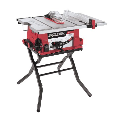 SKIL 3410-02 10-Inch Table Saw with Folding - Handle Straight 12 Point