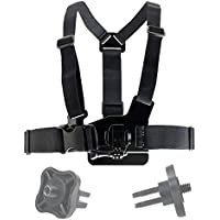 DURAGADGET Adjustable Chest Harness Mount With Quick Release-Buckle For GoPro Hero 1, Hero 2, Hero 3, Hero 3+ Plus, Hero 4, Naked / Helmet / LCD BacPak - Plus BONUS GoPro Screw Thread Adapter!