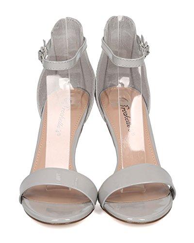 Ankle Formal Heel Stiletto Strap Dressy Breckelles Gh05 By Grey Patent Women Wedding Sandal 8qxnAX0zA