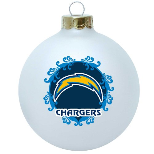 San Chargers Diego Topperscot Glass - NFL San Diego Chargers Large Collectible Ornament