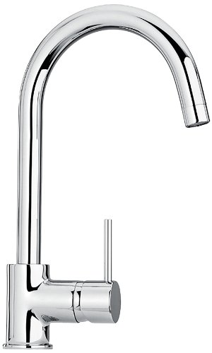 Jewel Faucets 25572  Single Hole Kitchen Faucet with Goose Neck Spout in Chrome from Jewel Faucets
