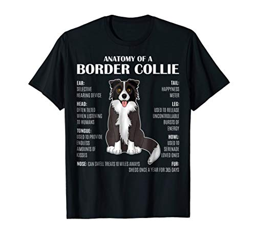 Anatomy Of A Border Collie Funny T-shirt For Dog Lover Gift ()