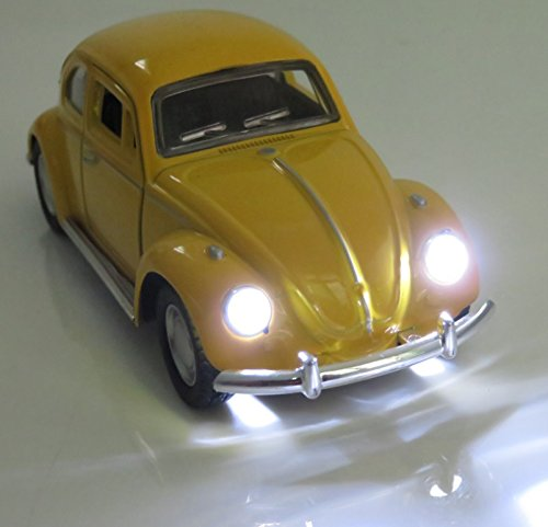 - Berry President(TM Classic 1967 Volkswagen Vw Classic Beetle Bug Vintage 1/32 Scale Diecast Metal Pull Back Car Model Toy For Gift/Kids (YELLOW)
