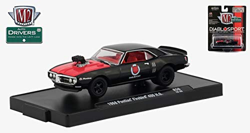 M2 Machines 1968 Pontiac Firebird 400 H.O. (Diablo Sport) Auto-Drivers Release 56 - Castline 2019 Special Edition 1:64 Scale Die-Cast Vehicle & Custom Display Base (R56 18-39) ()