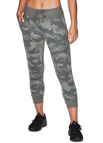 RBX Active Women's Camo Print Jogger Capri Sweatpants Camo Green M (Rbx Active Womens Fleece Cuffed Jogger Sweatpants)