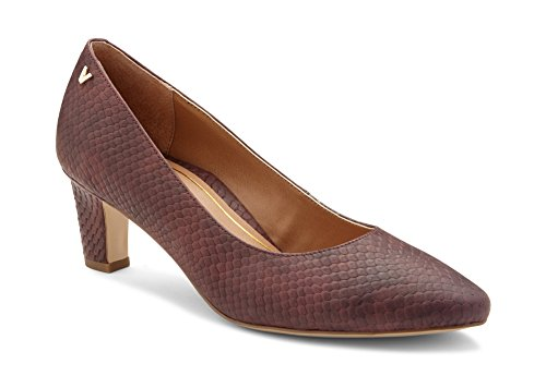Vionic Women's Madison Mia Heels - Ladies Pumps with Concealed Orthotic Support Merlot Snake 6 M US ()