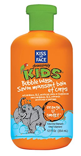Kiss My Face Natural Kids Orange U Smart Bubble Wash, Bubble Bath and Body Wash, 12 Ounce Bottle ( Pack May Vary ) by Kiss My Face