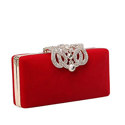 Red color UNYU Multi pour evening Pochette femme clutch AqPAa0