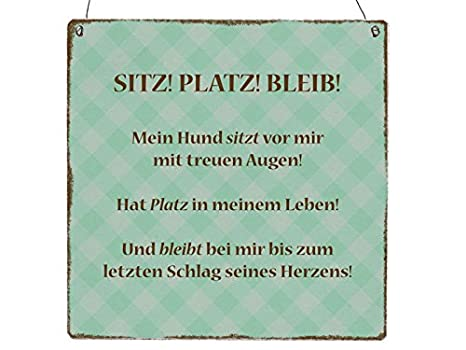 Amazonde Interluxe Xl Holzschild Sitz Platz Bleib Shabby