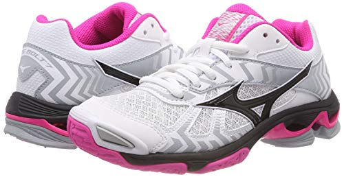 Multicolor Bolt Para 7 Wave Mujer pinkglo Mizuno Zapatillas 001 black white ZPq5cY
