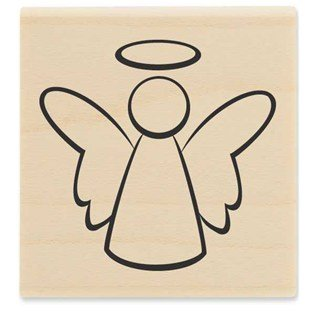 Angel 02 Rubber Stamp