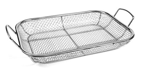 - Charcoal Companion Stainless Wire Mesh Roasting Pan, 14.75 by 11-Inch