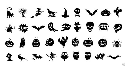 Halloween Nail Decals Assortment 3 Waterslide Nail Art Decals