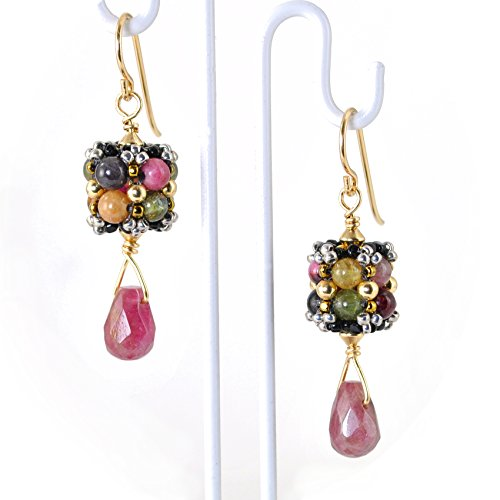 Tourmaline Earrings in 14K Gold Filled; Artisan Crafted and One of a Kind by YesterdayGetsBetter