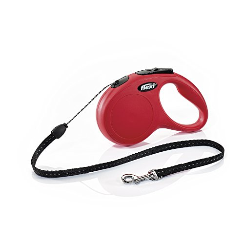 Flexi New Classic Retractable Dog Leash (Cord), 16 ft, Small, Red
